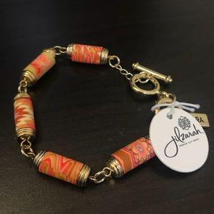 Premium clay beaded gold bracelet